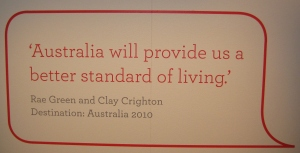 Australia will provide us a better standard of living