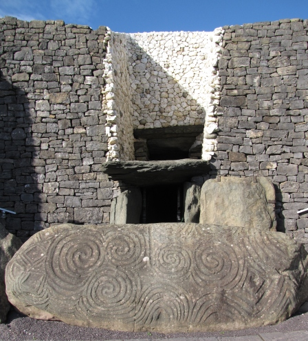 Decorated entrance stone to Newgrange passage tomb