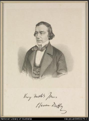 Charles Gavan Duffy, 1850. From the image collection of the National Library of Australia