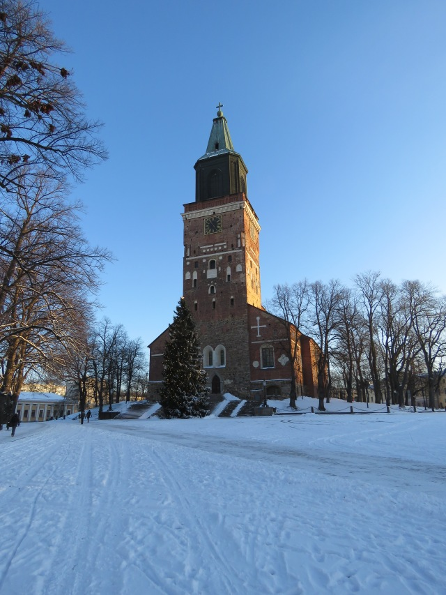 Turku Cathedral in the snow, Turku, Finland