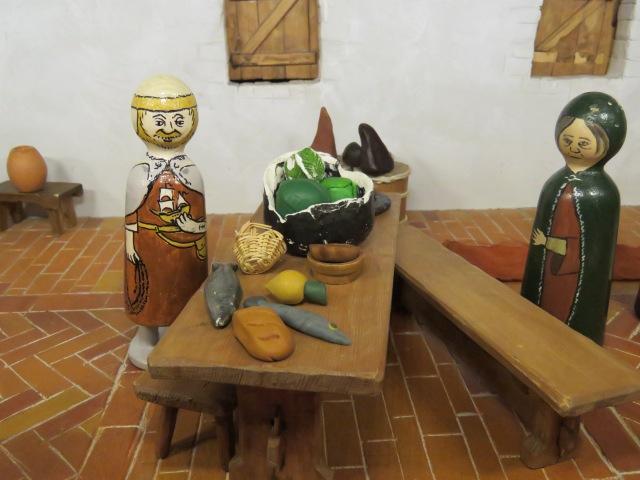 Detail from a model mediaeval house, Aboa Vetus
