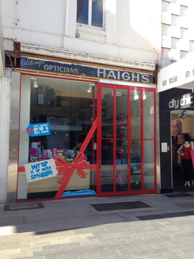 Haigh's, its cover blown