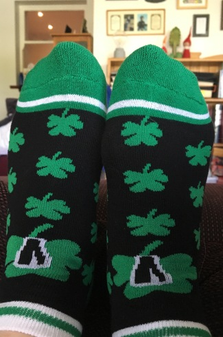 My new shamrock socks