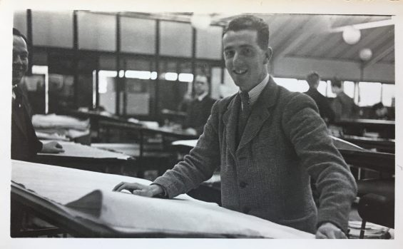 My dad in the 1940s, in one of his first jobs as a draftsman in Cardiff